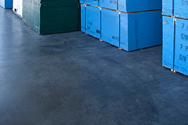 Fibres for indoor concrete floors
