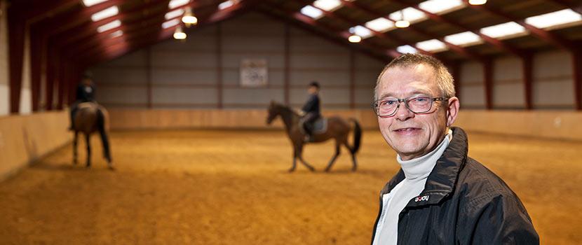 Stald RH, Indoor Riding Arena, fibres for stabilising subsoil