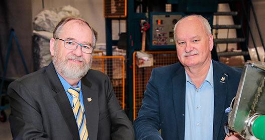 Danish Fibres Sales Team, Vice President Bo Gyldenberg and CEO/President Palle Kuntz